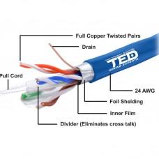 Cablu de retea FTP, cupru integral, RJ45, 305m, FTP cat.6