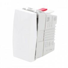 electrice arad - intrerupator simplu schneider unica, incastrat, modular, alb - schneider - mgu3.101.18