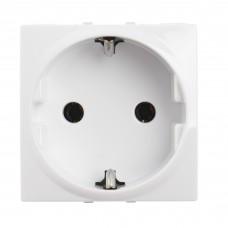 electrice arad - priza schuko schneider unica, incastrata, modulara, 2m, alba - schneider - mgu3.036.18