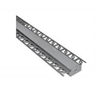Profil aluminiu banda LED, ingropat, pentru rigips, 2m