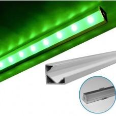 electrice arad - profil aluminiu,pentru banda led, aparent, de colt, 2m - lumen - 05-30-05702