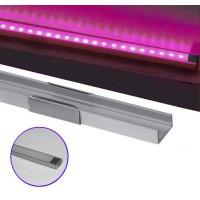 Profil aluminiu,pentru banda LED, aparent, tip U, 1m