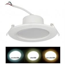 electrice arad - spot led smd, incastrat, rotund, 12w, 960 lm, 6200k, 121 mm, alb, ip 54 - lumen - 21-12100