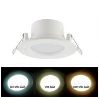 Spot LED SMD, incastrat, rotund, 6W, 450 lm, 4000k, 100 mm, alb, IP 54